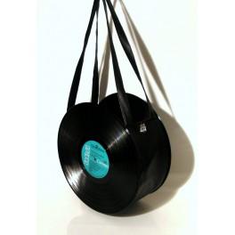Sac disque vinyl 33 tours noir
