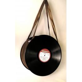 Sac disque vinyl 33 tours bronze